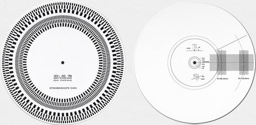Cartridge alignment protractor & strobe disc