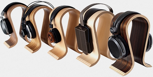 Omega headphones stand