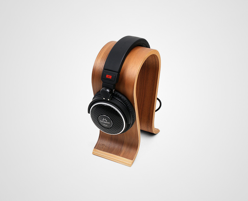 Arched Wood Headphone Stand image gallery