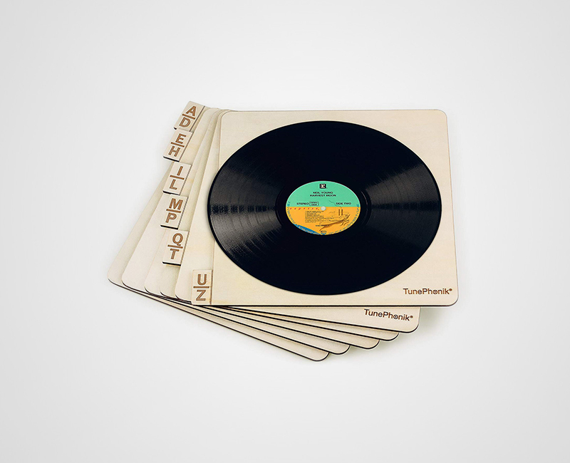 TunePhonik Two-Sided Wooden Record Dividers image gallery